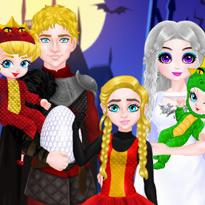 Halloween rodziny księżniczki