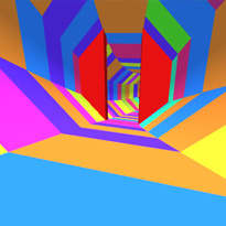 Kolorowy tunel