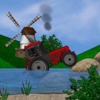 Traktor w trudnym terenie