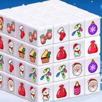 Świąteczny Mahjong 3D