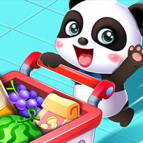 Mała panda na zakupach