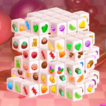 Cukierkowy Mahjong 3D