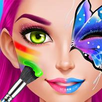 Szalone malowanie twarzy