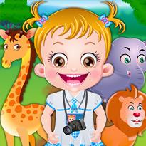 Mała Hazel poznaje zwierzęta