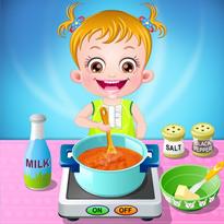 Mała Hania w kuchni