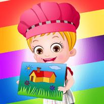 Mała Hazel poznaje kolory
