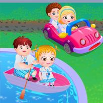 Mała Hazel poznaje pojazdy