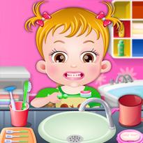 Mała Hazel: Mycie zębów